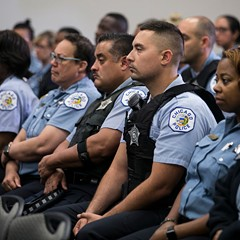 More than 100 Chicago Police officers gathered at the department's headquarters to hear superintendent Eddie Johnson announce the hiring of 970 new police officers over the next two years.