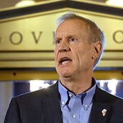 Governor Bruce Rauner after a stopgap budget was passed