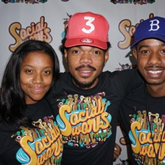 Chance the Rapper (center) with SocialWorks cofounders Essence Smith and Justin Cunningham