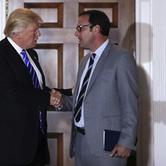 President-elect Donald Trump and Todd Ricketts, his nominee for deputy secretary of the Department of Commerce