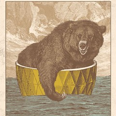 A grizzly floats by on the gig poster of the week