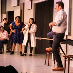 The conversation breaks down in Second City's The Winner . . . of Our Discontent