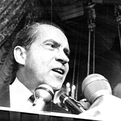 Richard Nixon on the presidential campaign trail in 1968