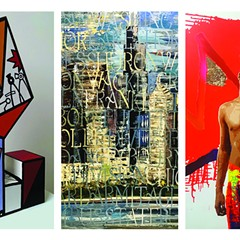 """""""Off the Wall"""" features the work of graffiti artists Derric Clemmons, Ronit Wiener, and John Yaou."""