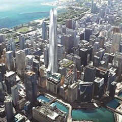 The state has proposed replacing the Thompson Center with a new skyscraper, shown here in renderings released by the governor's office.