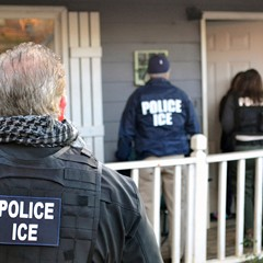 ICE agents at a home in Atlanta