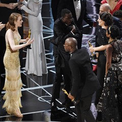 After a shocking mixup, the cast and crew of La La Land greet the cast and crew of Moonlight as they take the stage to claimed their Academy Award for best picture.