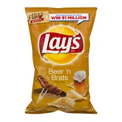 """""""Like something that had died and begun fermenting under the sink"""" is how one Reader staffer described the flavor of Lay's new Beer 'n Brats potato chips."""