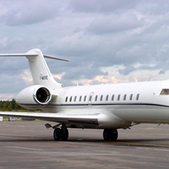Tronc leased a jet made by Montreal-based Bombardier, which manufactures the plane shown here.