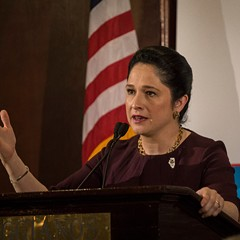 Illinois comptroller Susana Mendoza spoke to the City Club of Chicago Monday afternoon.