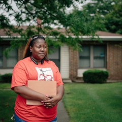 "Akeeshea Daniels and her two sons are among the families scheduled to be relocated from the lead-contaminated West Calumet Housing Complex to Chicago's Altgeld Gardens, nicknamed the ""toxic doughnut."""
