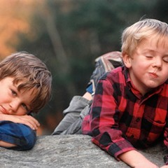 Ron Powers's sons Dean, left, and Kevin, right, pictured here as children, both later suffered from schizophrenia.