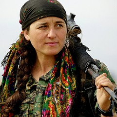 A Kurdish YPG fighter