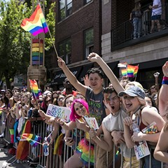 A scene from Pride Parade this past Sunday, June 25