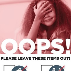 """Some Blue Cart Residential Recycling Program participants will receive an """"oops tag"""" on their cart if the contents include non-recyclables."""
