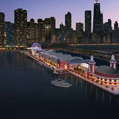 Rendering of the renovated Navy Pier