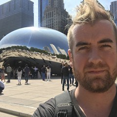 Eric Barry's last Chicago selfie
