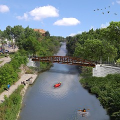 Rendering of the Lincoln Village Pedestrian Bicycle Bridge