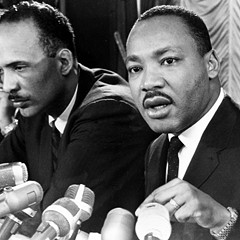 King speaks at a news conference in Chicago on Jan. 7, 1966.