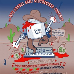 A sharp-shootin' Crock-Pot tosses its chili on the gig poster of the week