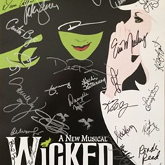 The cast of Wicked was one of many productions that donated a signed poster to the theater students.