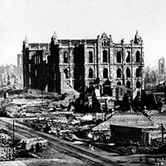 Downtown after the great fire of 1871