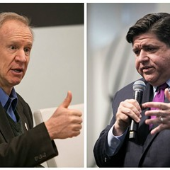 Billionaires Bruce Rauner and J.B. Pritzker's taxes would go up, up, up under a progressive income tax.