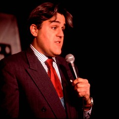 A young Jay Leno, chin and all, performs on Zanies' Chicago stage.