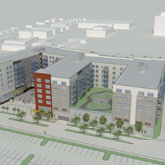 A proposed 299-unit apartment building on the northwest side would include 30 affordable housing units.