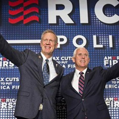 Governor Bruce Rauner and Vice President (and former Indiana governor) Mike Pence
