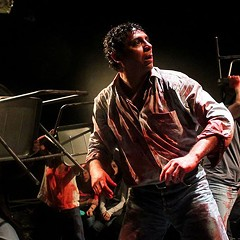 Mexican theater company Los Colochos' Mendoza presents a visceral, blood-soaked tale of ambition and corruption