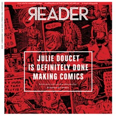 On the cover: From Dirty Plotte: The Complete Julie Doucet