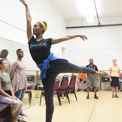 Kara Roseborough in rehearsal for Fleetwood-Jourdain Theatre's Black Ballerina.