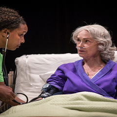 J. Nicole Brooks and Deanna Dunagan in Death Tax, Lookingglass Theatre, 2014