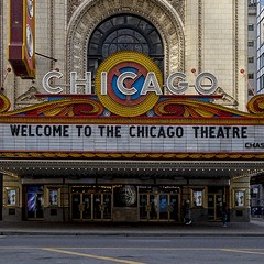 The Chicago Theatre and Chicago theater are both closed for now.