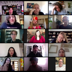 The Reader team channeling The Brady Bunch