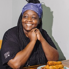 Meet Dinkey DaDiva, creator of the Jerk Chicken Egg Roll