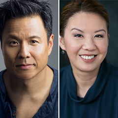 The creative team for Token Theatre's Zac Efron: Wai Yim, David Rhee, Telly Leung, Helen Young