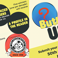 Enter the Buttons Up! Button Design Contest & button pack in partnership with Busy Beaver Button Co.