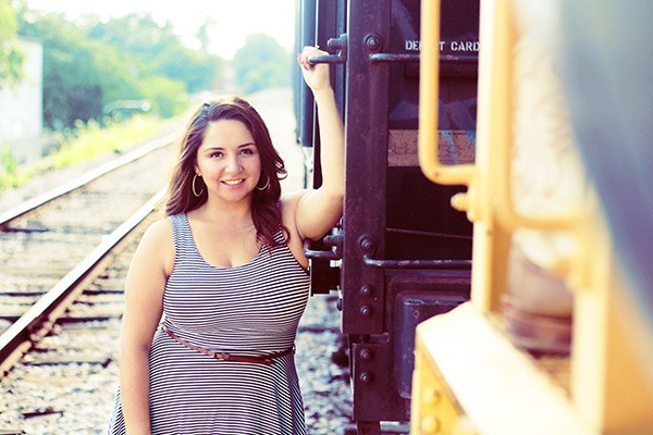 Delia Ramirez took engagement photos on the Bloomingdale Trail before construction began. Now she's helping lead a campaign against displacement of longtime residents near the 606. - BILLY PEREZ