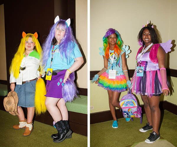 Herds of MLP fans attended the convention in costume - PARKER BRIGHT