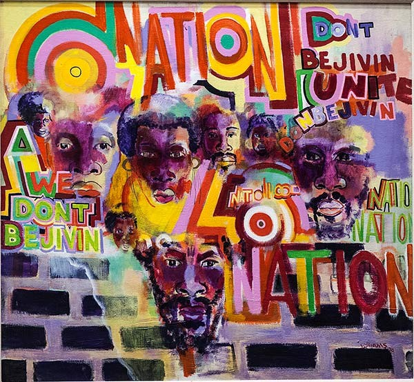 AfriCOBRA cofounder Gerald Williams painted Nation Time in 1969. - JOHNSON PUBLISHING COMPANY (CHICAGO)