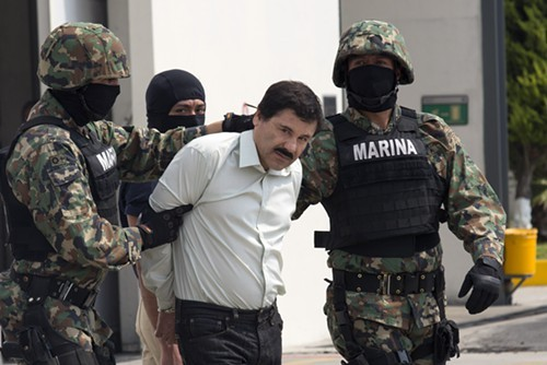 El Chapo during more incarcerated times