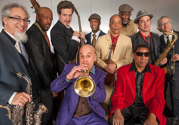 Henry Butler (with sunglasses), Steven Bernstein (with trumpet), and the Hot 9 - COURTESY DCASE