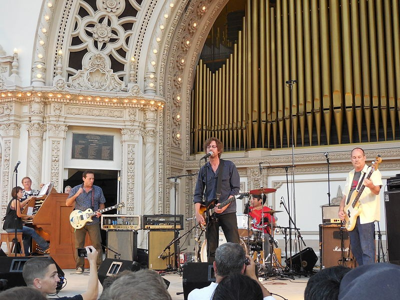 Drive Like Jehu in August 2014 in Balboa Park, San Diego, with organist Carol Williams - ILLAZILLA