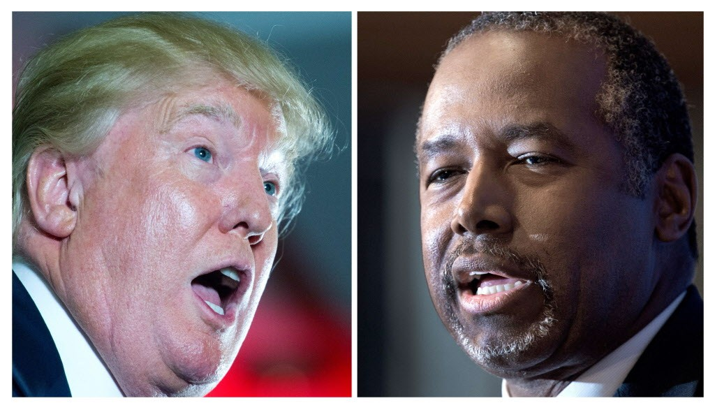 Republican presidential hopefuls Donald Trump and Ben Carson - (AFP/GETTY IMAGES)