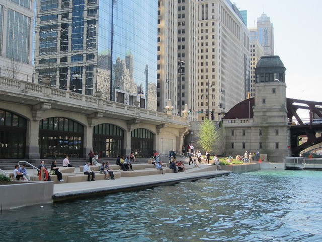 'The Cove' section of the Chicago Riverwalk extension. - JOHN GREENFIELD