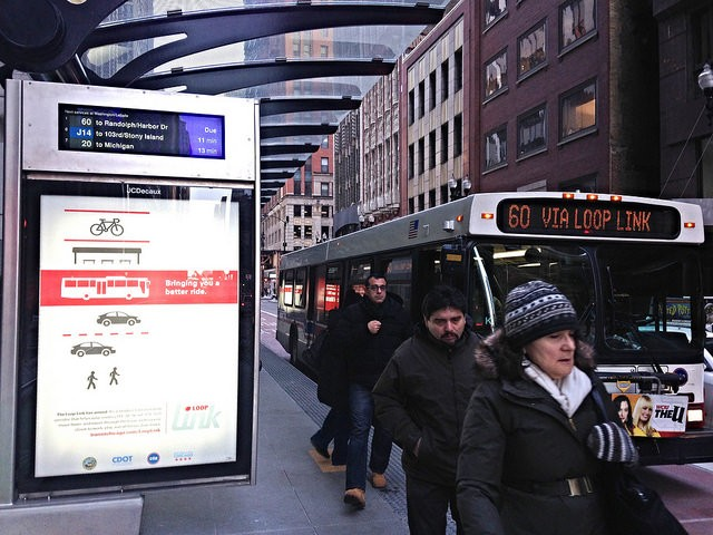 The Loop Link corridor is used by six daily bus routes, plus the #19 United Center Express. - JOHN GREENFIELD