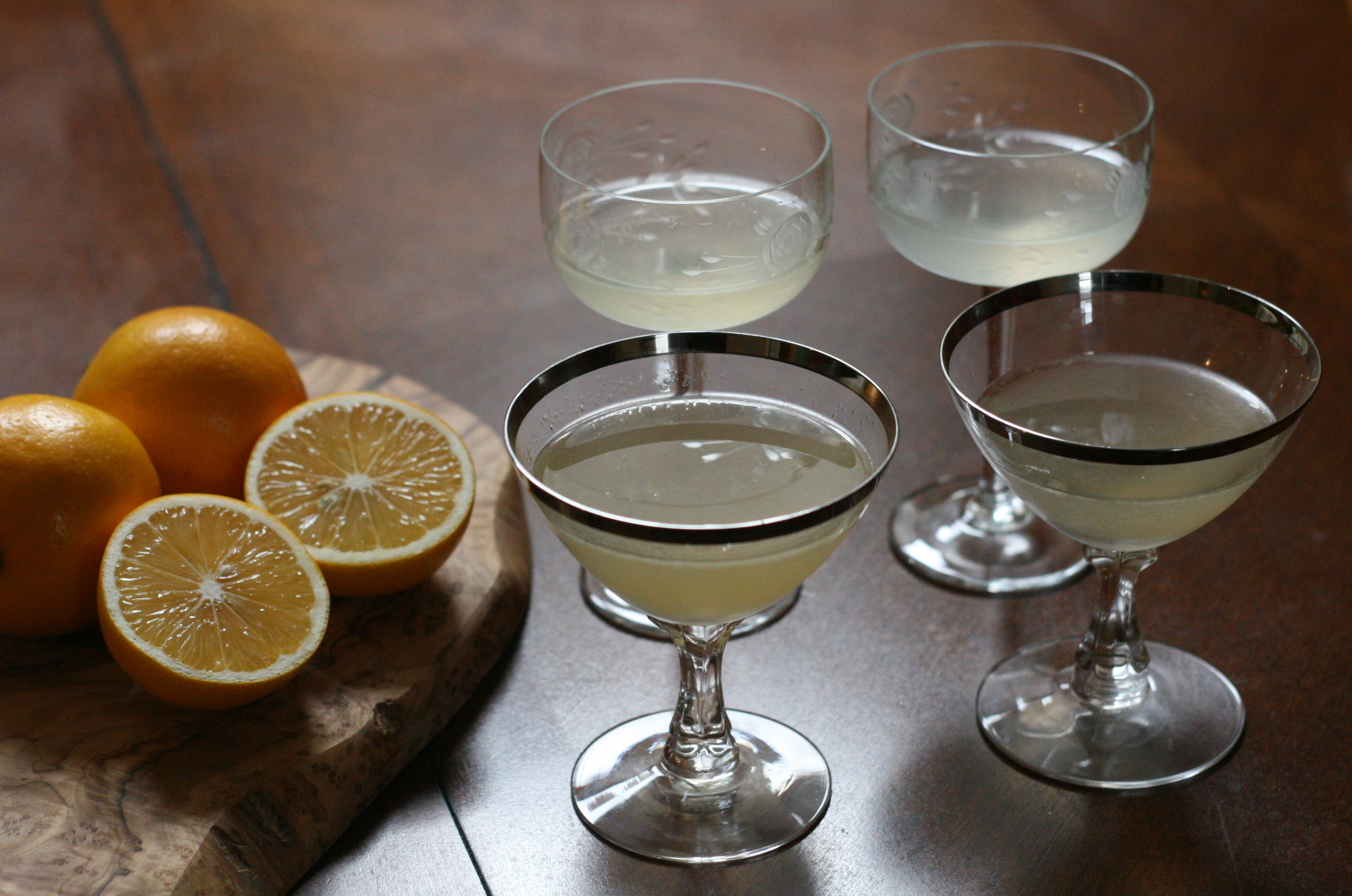 The pisco sours (front) and gin sours - JULIA THIEL