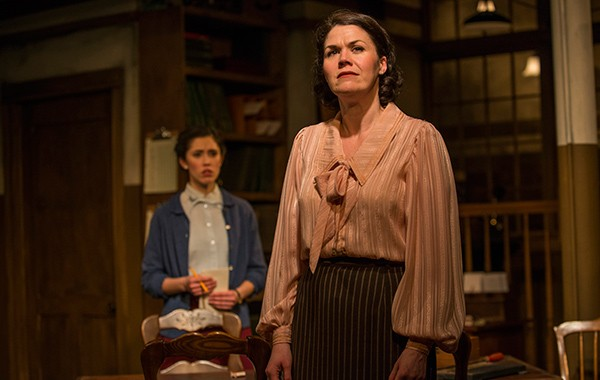 Rochelle Therrien and Vanessa Greenway in Griffin Theatre Company's London Wall